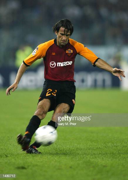 Christian Panucci of Roma in action during the UEFA Champions League First Phase Group C match between AS Roma and Real Madrid at the Stadio Olimpico...