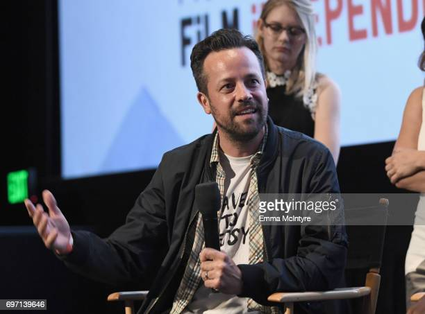 Christian Papierniak speaks at the 'Izzy Gets The Fuck Across Town' and 'Ok Call Me Back' Premieres during the 2017 Los Angeles Film Festival at...