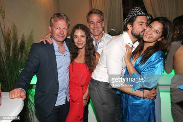 HEIDELBERG GERMANY SEPTEMBER Christian Paschmann Katja Woywood and her husband Marco Girnth Tom Beck and his girlfriend Chryssanthi Kavazi during the...
