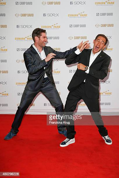 Christian Polanc and Marcel Remus attend the 'Fashion World Camp David und Soccx' Store Opening on June 08 2014 in Rust Germany