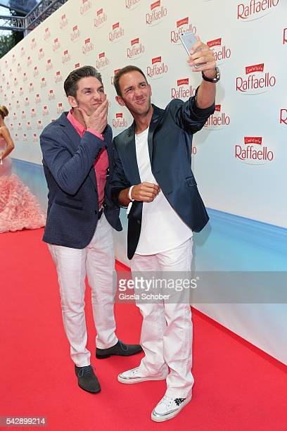 Christian Polanc and Marcel Remus taking a selfie during the Raffaello Summer Day 2016 to celebrate the 26th anniversary of Raffaello on June 24 2016...