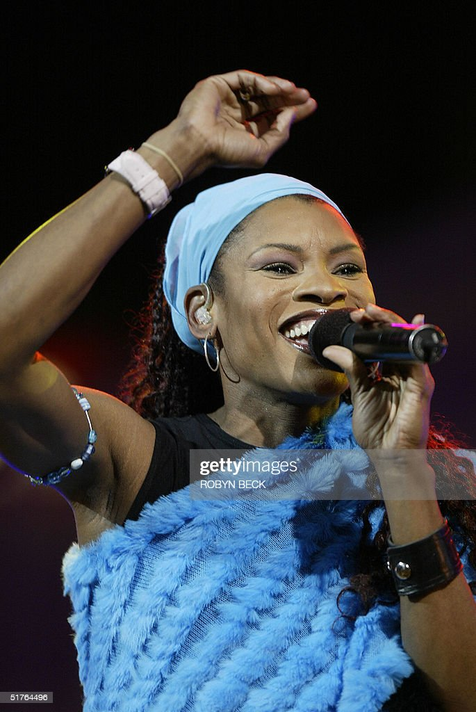 Christian pop singer <a gi-track='captionPersonalityLinkClicked' href=/galleries/search?phrase=Nicole+C.+Mullen&family=editorial&specificpeople=2661301 ng-click='$event.stopPropagation()'>Nicole C. Mullen</a> performs at the start of the four-day Greater Los Angeles Billy Graham Crusade, 18 November 2004 at the Rose Bowl in Pasadena, California. Graham, an 86 year-old, internationally-known evangelist is brining his message of salvation to Christians on what may be one of his last crusades. AFP PHOTO / Robyn BECK