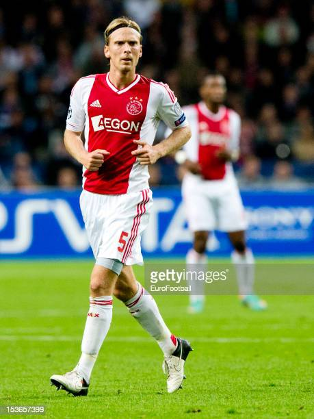 Christian Poulsen of AFC Ajax in action during the UEFA Champions League group stage match between AFC Ajax and Real Madrid CF at the Amsterdam ArenA...