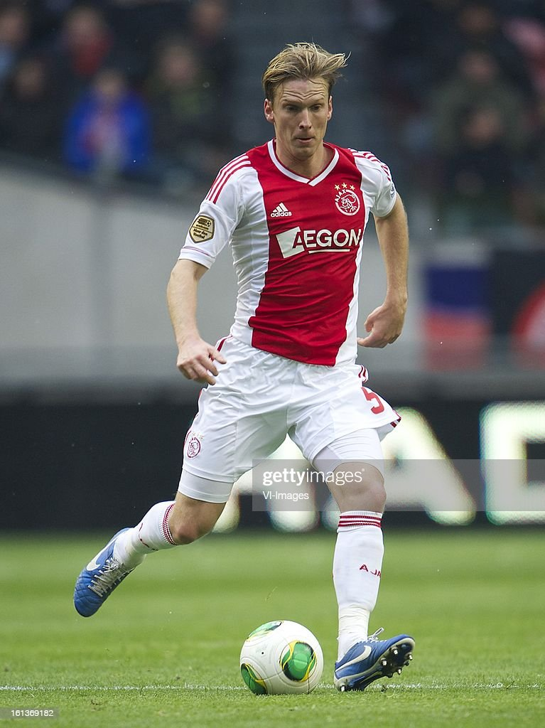 Christian Poulsen of Ajax during the Dutch Eredivisie match between Ajax Amsterdam and Roda JC Kerkrade at the Amsterdam Arena on february 10, 2013 in Amsterdam, The Netherlands