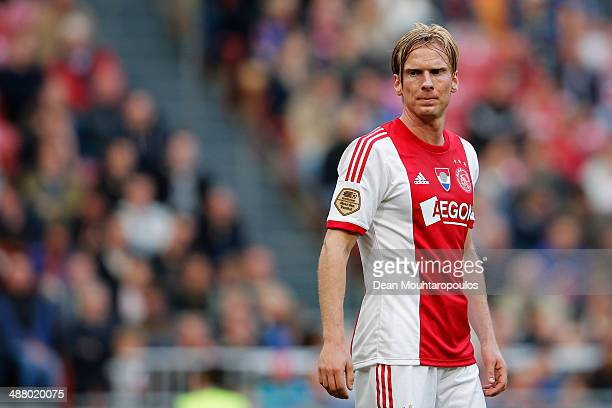 Christian Poulsen of Ajax looks on during the Eredivisie match between Ajax Amsterdam and NEC Nijmegen at Amsterdam Arena on May 3 2014 in Amsterdam...