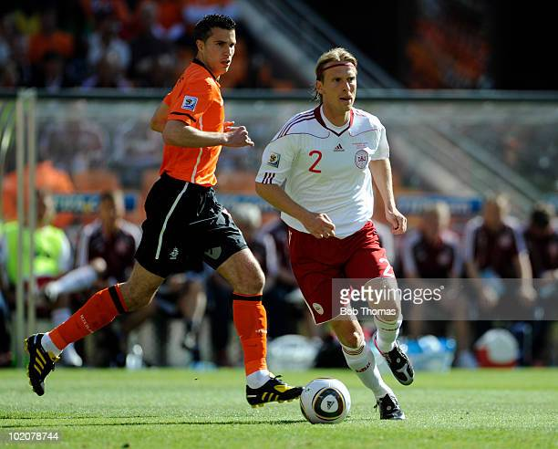 Christian Poulsen of Denamrk during the 2010 FIFA World Cup Group E match between Netherlands and Denmark at Soccer City Stadium on June 14 2010 in...