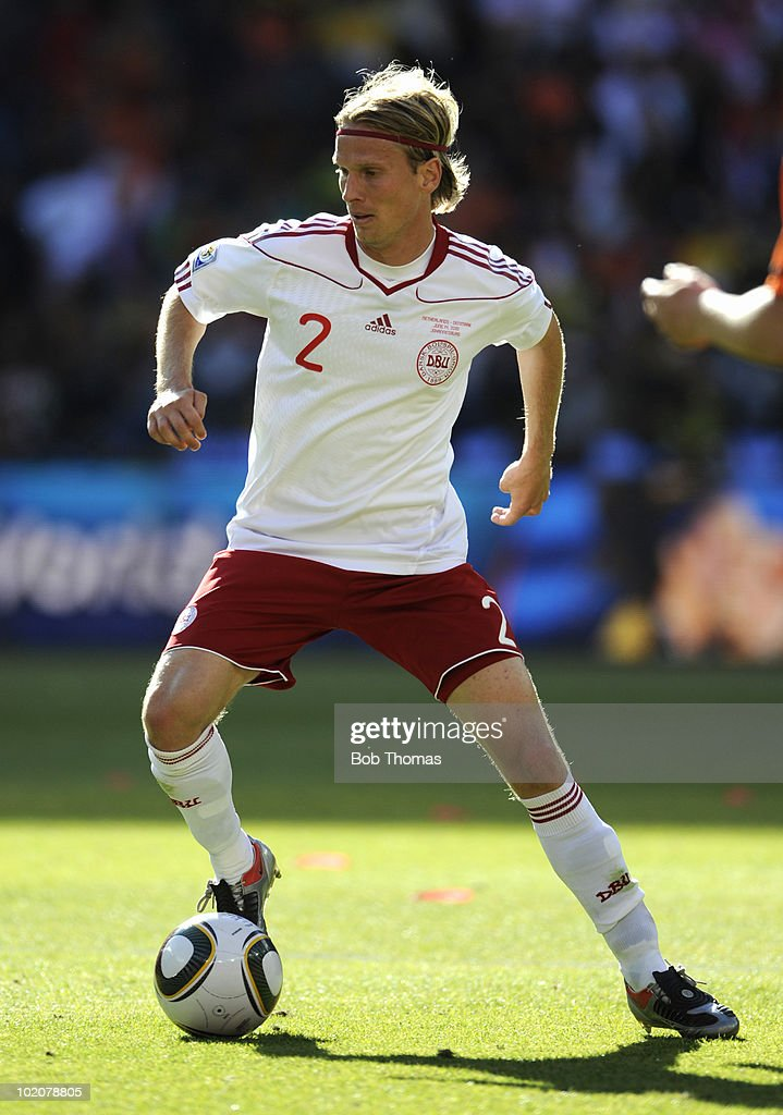 <a gi-track='captionPersonalityLinkClicked' href=/galleries/search?phrase=Christian+Poulsen&family=editorial&specificpeople=228068 ng-click='$event.stopPropagation()'>Christian Poulsen</a> of Denmark during the 2010 FIFA World Cup Group E match between Netherlands and Denmark at Soccer City Stadium on June 14, 2010 in Johannesburg, South Africa.