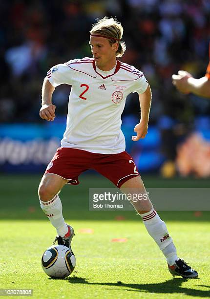 Christian Poulsen of Denmark during the 2010 FIFA World Cup Group E match between Netherlands and Denmark at Soccer City Stadium on June 14 2010 in...