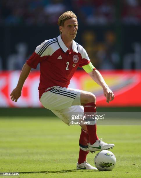 Christian Poulsen of Denmark in action during the International friendly match between Brazil and Denmark at the Imtech Arena on May 26 2012 in...