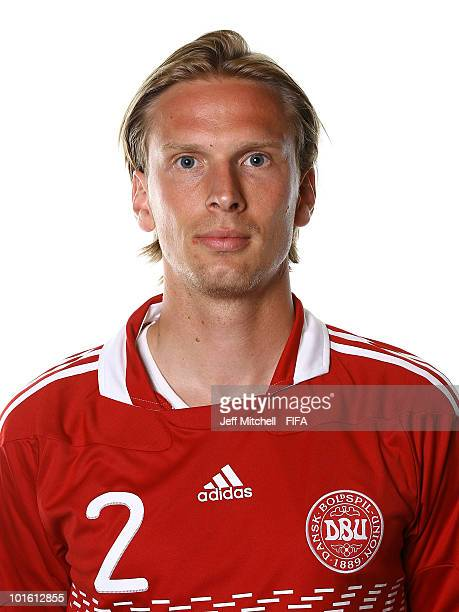 Christian Poulsen of Denmark poses during the official FIFA World Cup 2010 portrait session on June 3 2010 in Johannesburg South Africa