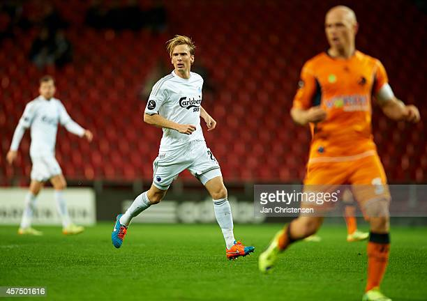 Christian Poulsen of FC Copenhagen in action during the Danish Superliga match between FC Copenhagen and Randers FC at Telia Parken Stadium on...