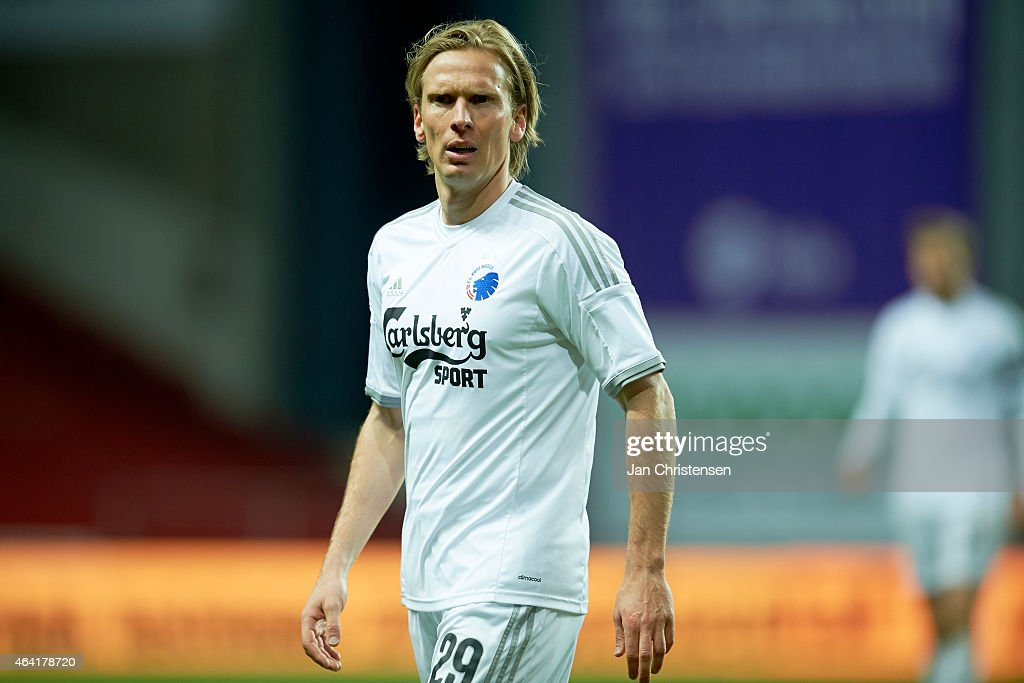 <a gi-track='captionPersonalityLinkClicked' href=/galleries/search?phrase=Christian+Poulsen&family=editorial&specificpeople=228068 ng-click='$event.stopPropagation()'>Christian Poulsen</a> of FC Copenhagen looks on during the Danish Alka Superliga match between FC Copenhagen and FC Vestsjalland at Telia Parken Stadium on February 22, 2015 in Copenhagen, Denmark.