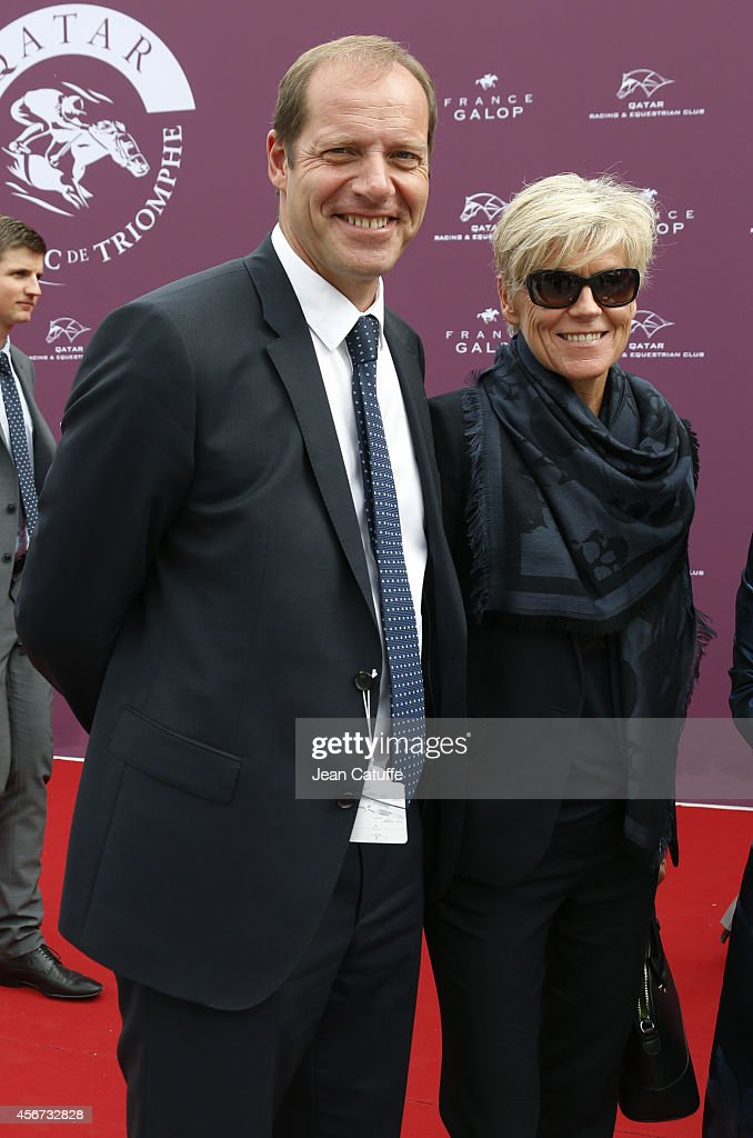 <a gi-track='captionPersonalityLinkClicked' href=/galleries/search?phrase=Christian+Prudhomme&family=editorial&specificpeople=546988 ng-click='$event.stopPropagation()'>Christian Prudhomme</a> and his wife attend the Qatar Prix de I'Arc de Triomphe at Longchamp racecourse on October 5, 2014 in Paris, France.