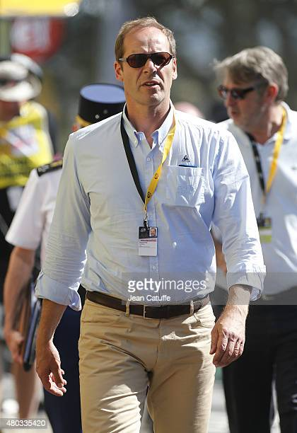 Christian Prudhomme director of the Tour de France looks on during stage seven of the 2015 Tour de France a 1905 km road stage from Livarot to...