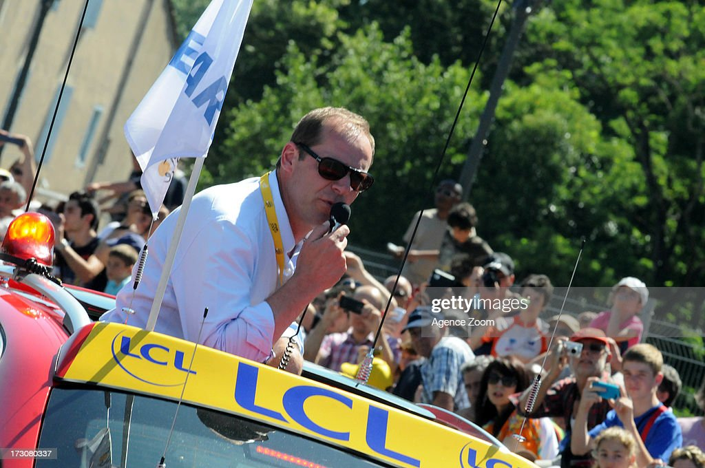<a gi-track='captionPersonalityLinkClicked' href=/galleries/search?phrase=Christian+Prudhomme&family=editorial&specificpeople=546988 ng-click='$event.stopPropagation()'>Christian Prudhomme</a> during Stage 8 of the Tour de France on Saturday 06 July, 2013, Castres to Ax 3 Domaines, France.