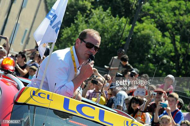 Christian Prudhomme during Stage 8 of the Tour de France on Saturday 06 July Castres to Ax 3 Domaines France