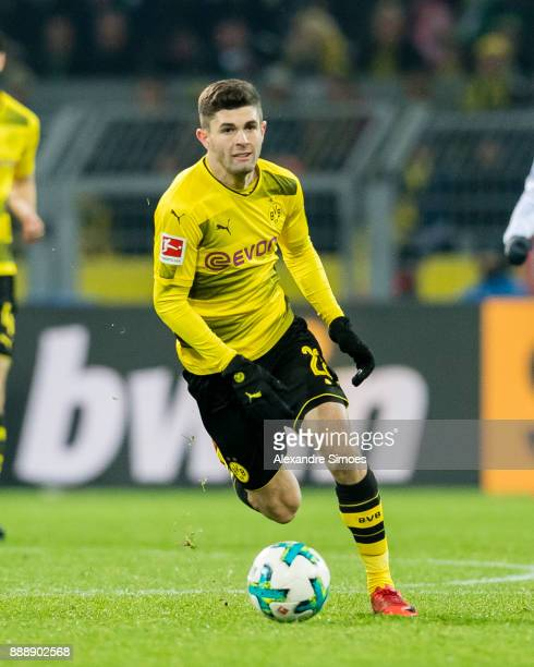Christian Pulisic of Borussia Dortmund during the Bundesliga match between Borussia Dortmund and SV Werder Bremen at Signal Iduna Park on December 9...