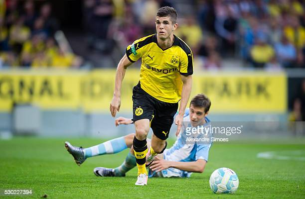 Christian Pulisic of Borussia Dortmund during the German U19 Championship Semi Final First Leg match between Borussia Dortmund and 1860 Muenchen at...
