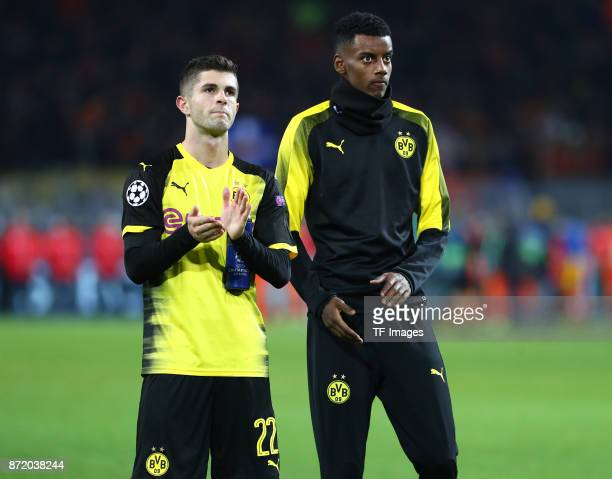 Christian Pulisic of Dortmund and Alexander Isak of Dortmund looks dejected after the UEFA Champions League Group H soccer match between Borussia...