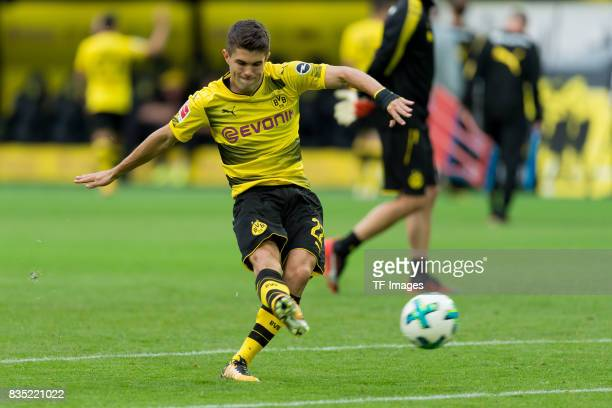 Christian Pulisic of Dortmund controls the ball during the Borussia Dortmund Season Opening 2017/18 at Signal Iduna Park on August 4 2017 in Dortmund...