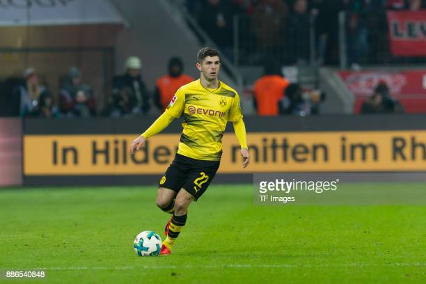 Christian Pulisic of Dortmund controls the ball during the Bundesliga match between Bayer 04 Leverkusen and Borussia Dortmund at BayArena on December...