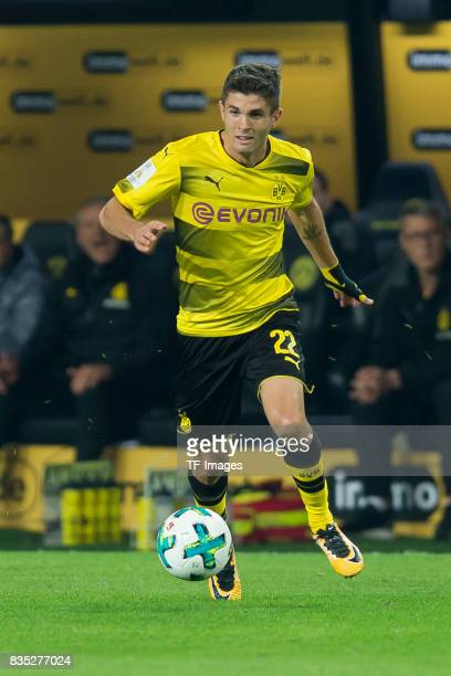 Christian Pulisic of Dortmund controls the ball during the DFL Supercup 2017 match between Borussia Dortmund and Bayern Muenchen at Signal Iduna Park...