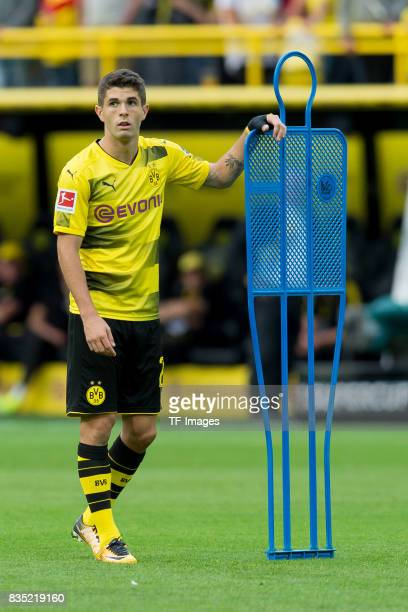 Christian Pulisic of Dortmund looks on during the Borussia Dortmund Season Opening 2017/18 at Signal Iduna Park on August 4 2017 in Dortmund Germany