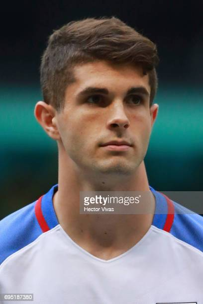 Christian Pulisic of United States during the match between Mexico and The United States as part of the FIFA 2018 World Cup Qualifiers at Azteca...