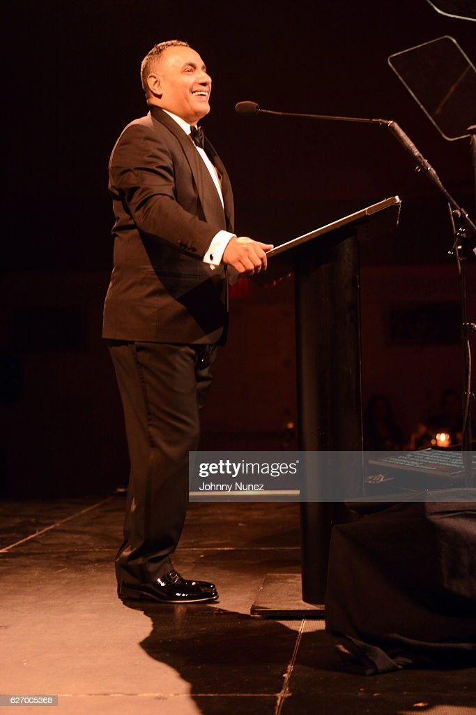 Christian Rivera Foundation Founder John 'Gungie' Rivera speaks onstage at the 8th Annual Christian Rivera Foundation Celebrity Fundraiser at Broad Street Ballroom on November 30, 2016 in New York City.