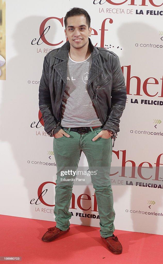Christian Sanchez attends 'El chef, la receta de la felicidad' ('Comme un chef') premiere photocall at Palafox cinema on November 26, 2012 in Madrid, Spain.