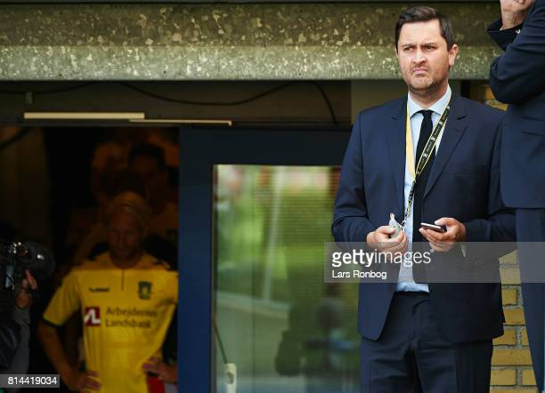 Christian Schultz communications director of Brondby IF looks on prior to the UEFA Europa League Qualification match between Brondby IF and VPS Vaasa...