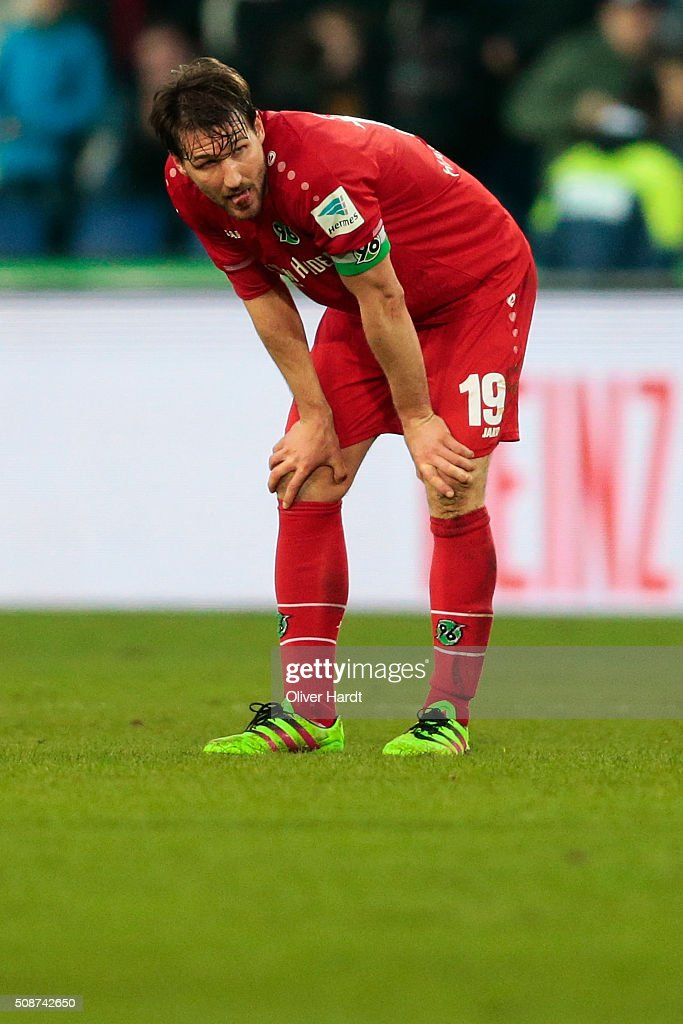 <a gi-track='captionPersonalityLinkClicked' href=/galleries/search?phrase=Christian+Schulz&family=editorial&specificpeople=228730 ng-click='$event.stopPropagation()'>Christian Schulz</a> of Hannover appears frustrated after the first Bundesliga match between Hannover 96 and 1. FSV Mainz 05 at HDI-Arena on February 6, 2016 in Hanover, Germany.