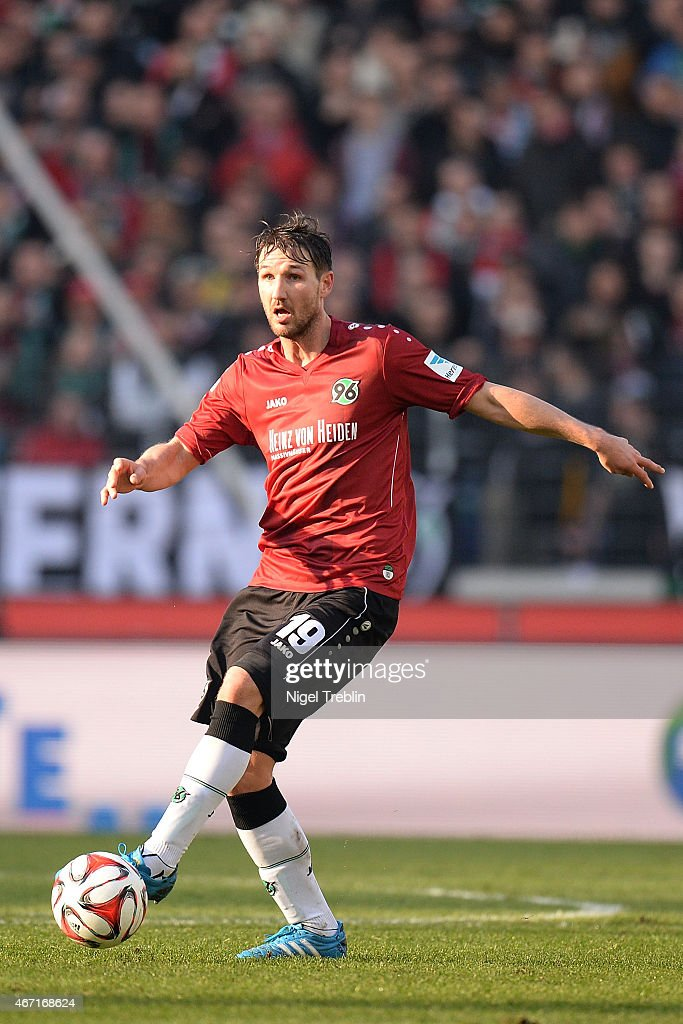 Christian Schulz of Hannover controls the ball during to the Bundesliga match between Hannover 96 and Borussia Dortmund at HDIArena on March 21 2015...