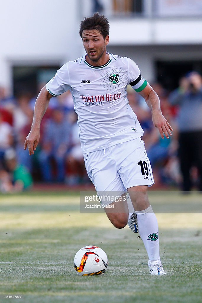 Christian Schulz of Hannover during the preseason friendly match between Hannover 96 and RCD Mallorca at WahrenDorff stadium on July 21 2015 in...