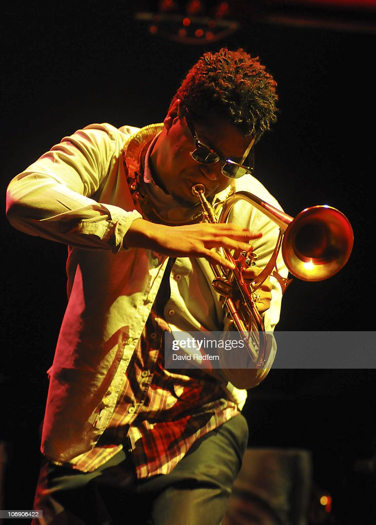 Christian Scott performs on stage at the Royal Festival Hall during the London Jazz Festival on November 15, 2010 in London, England.