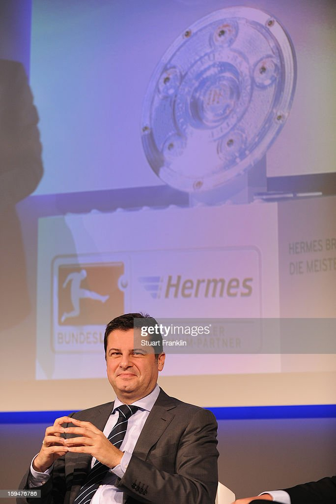 Christian Seifert, chairman of business for the DFL at the announcement of Hermes as the new DFL premium sponsor on January 14, 2013 in Hamburg, Germany.
