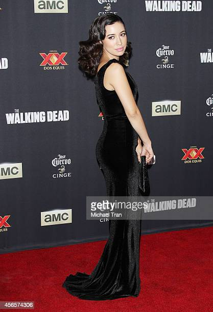 Christian Serratos arrives at AMC's 'The Walking Dead' Season 5 Premiere held at AMC Universal City Walk on October 2 2014 in Universal City...