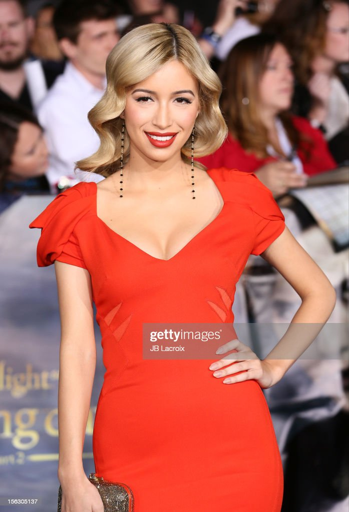 Christian Serratos arrives at the 'The Twilight Saga: Breaking Dawn - Part 2' Los Angeles Premiere at Nokia Theatre L.A. Live on November 12, 2012 in Los Angeles, California.
