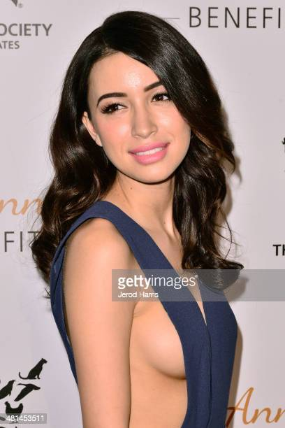 Christian Serratos attends the Humane Society of the United States 60th Anniversary Benefit Gala at The Beverly Hilton Hotel on March 29 2014 in...