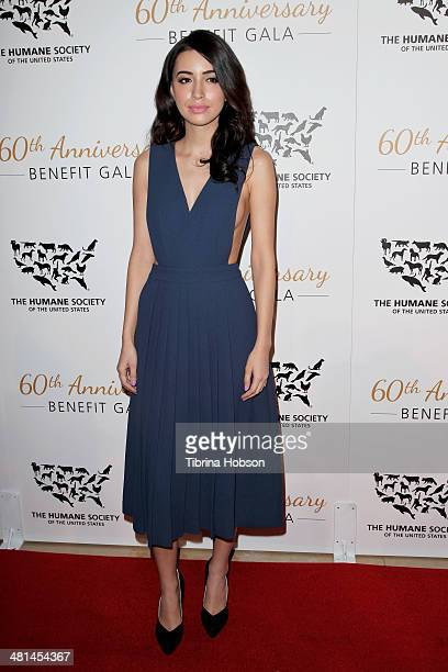 Christian Serratos attends the Humane Society's 60th anniversary benefit gala at the Beverly Hilton Hotel on March 29 2014 in Beverly Hills California
