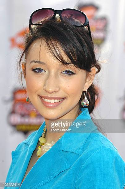 Christian Serratos during Nickelodeon's 18th Annual Kids Choice Awards Arrivals at UCLA Pauley Pavilion in Westwood California United States