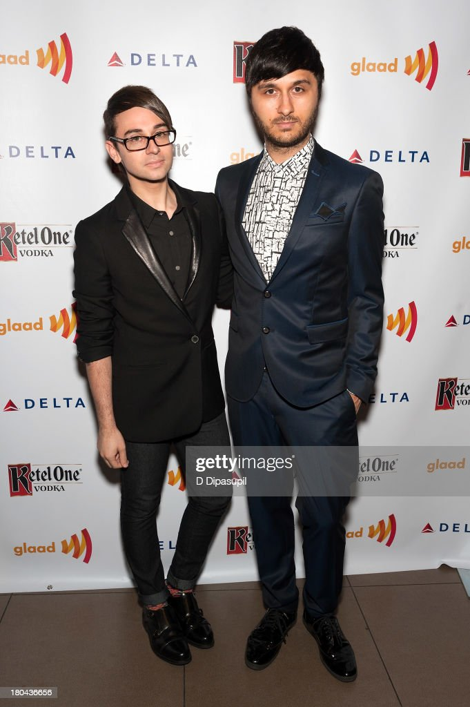 Christian Siriano (L) and Brad Walsh attend the GLAAD Manhattan Summer 2013 Benefit at Gansevoort Park Avenue on September 12, 2013 in New York City.