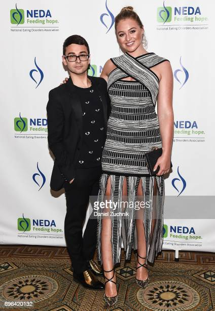 Christian Siriano and Iskra Lawrence attend the 15th Annual Benefit Gala 'An Evening Unmasking Eating Disorders' hosted by The National Eating...