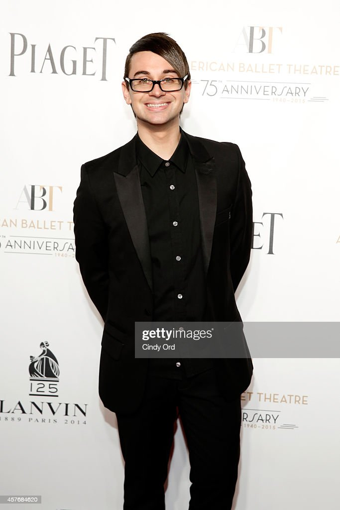 Christian Siriano attends American Ballet Theatre 2014 Opening Night Fall Gala at David H Koch Theater at Lincoln Center on October 22 2014 in New...