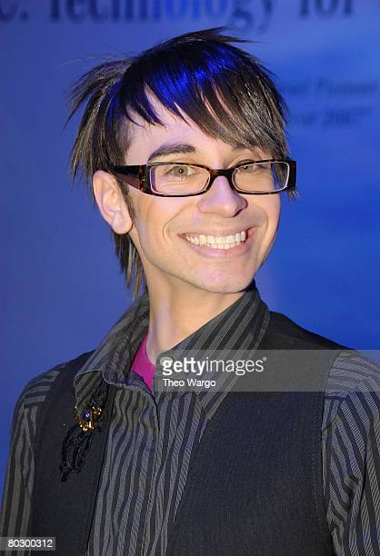Christian Siriano attends the 2008 New York Auto Show MercedesBenz House of BlueTEC
