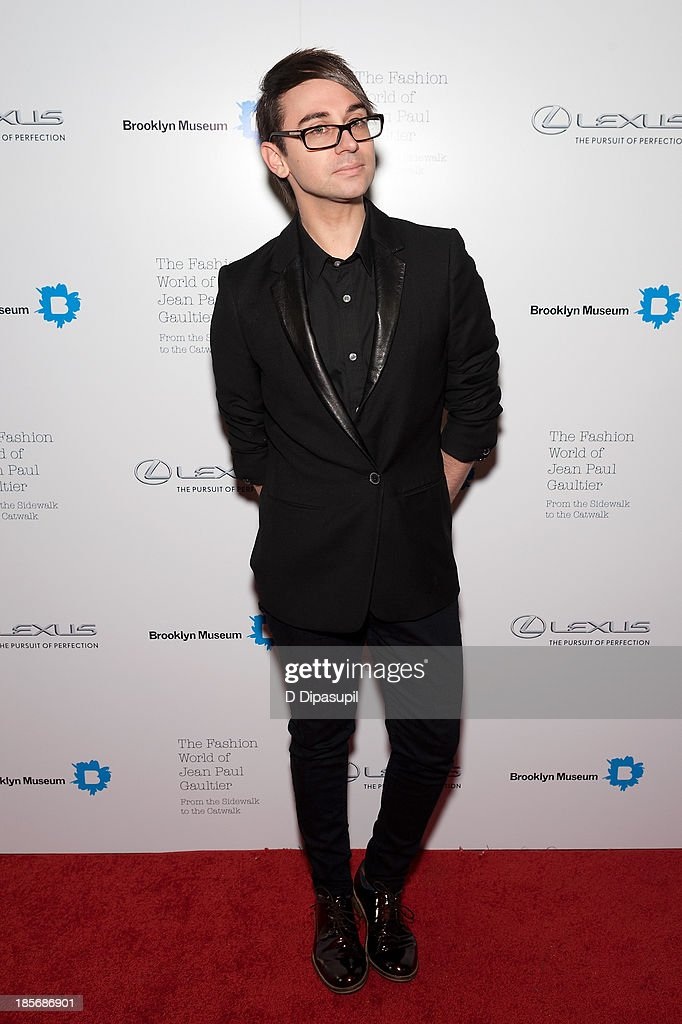 Christian Siriano attends the VIP reception and viewing for The Fashion World of Jean Paul Gaultier: From the Sidewalk to the Catwalk at the Brooklyn Museum on October 23, 2013 in the Brooklyn borough of New York City.