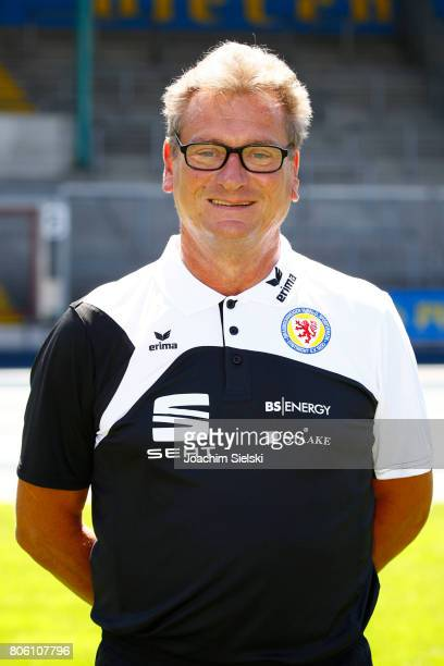 Christian Skolik of Eintracht Braunschweig poses during the official team presentation of Eintracht Braunschweig at Eintracht Stadion on July 3 2017...