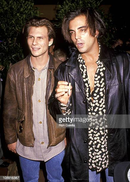 Christian Slater and Richard Grieco during 'The Indian Runner' Los Angeles Premiere at AMC Theater in Century City California United States