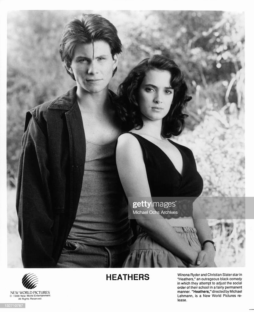Christian Slater and Winona Ryder standing together in a scene from ...