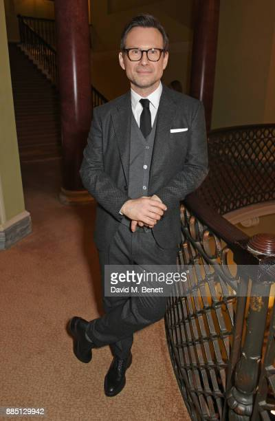 Christian Slater attends a drinks reception ahead of the London Evening Standard Theatre Awards 2017 at the Theatre Royal Drury Lane on December 3...